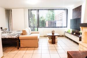 Uma área de estar em Apartment 12