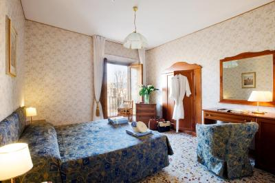 A room at the Hotel Silla, Florence