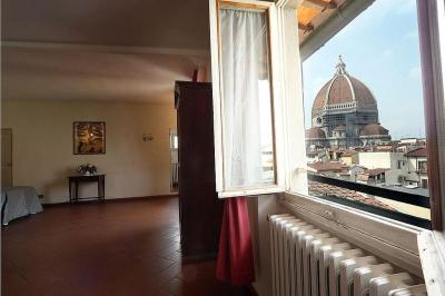 A room with a view at the Hotel Bavaria, Florence