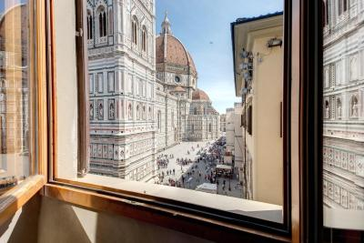 The view from the best rooms at the Hotel Chiari Bigallo, Florence