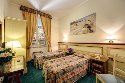 A room at the Hotel de' Lanzi, Florence
