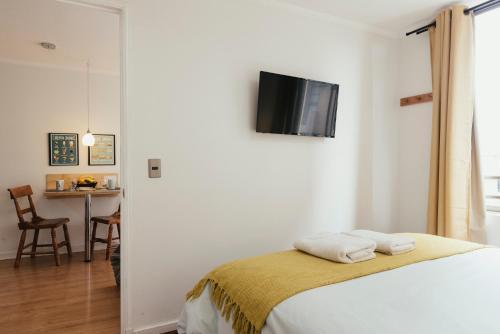 Cama ou camas em um quarto em Gran Piso