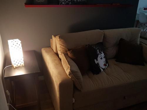 Uma área de estar em Studio Exclusive Leme