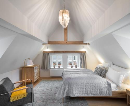 מיטה או מיטות בחדר ב-Blue Oak