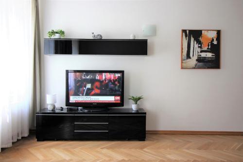 Uma TV ou centro de entretenimento em Agnes - Residence Palladium