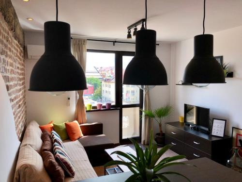 אזור ישיבה ב-Golden Dome view Apartment