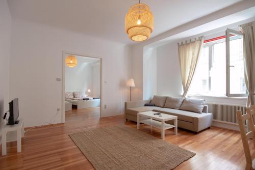 אזור ישיבה ב-Vienna Living Apartments - Stadtpark