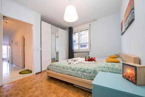 Cama ou camas em um quarto em Pazzallo Apartment Sleeps 3
