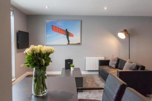 Un lugar para sentarse en Dream Apartments Quayside
