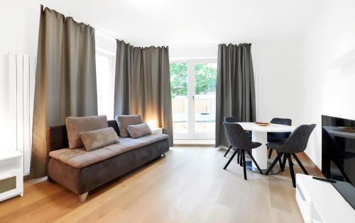 Uma área de estar em Apartments Krakovska 13