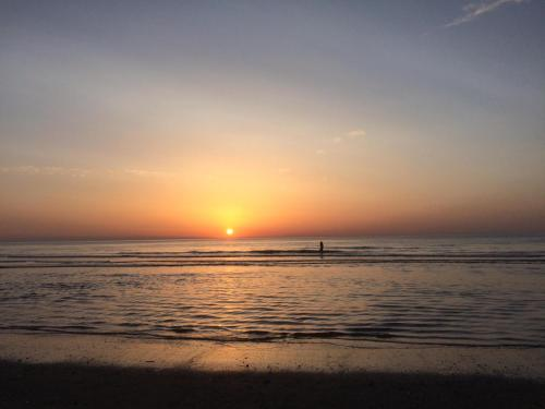 O pôr ou nascer do sol visto da casa de temporada ou dos arredores