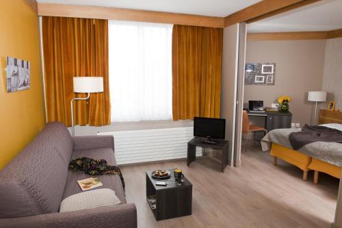 منطقة جلوس في أداغيو باريس 15 للشقق الفندقية بخدمة ذاتية