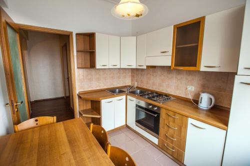A cozinha ou cozinha compacta de Standard Brusnika Apartments Krasnoselskaya