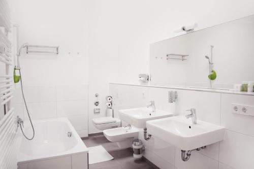 חדר רחצה ב-Apartments Rosenthal Residence